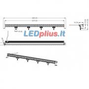 200W CREE LED žibintas