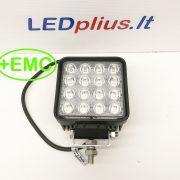 48W LED Žibintas/ Platus, EMC